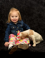 Nora with English Setter Puppy
